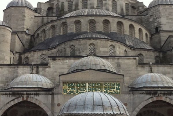 ISTANBUL-Mosquée Bleue-depuis la cour-CF