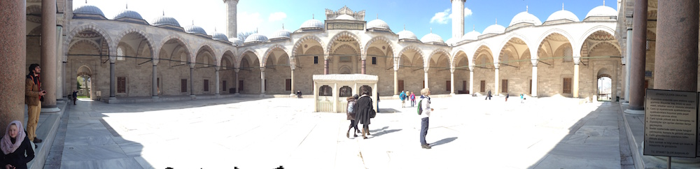 ISTANBUL-Mosquée Süleymaniye-cour-CF