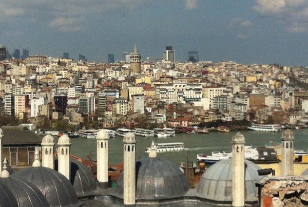 ISTANBUL-vue des jardins de Süleymaniye-CF